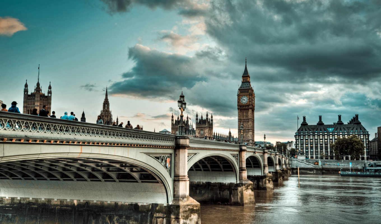 london, мост, англия, thames, широкоформатные, города, биг, бигбен