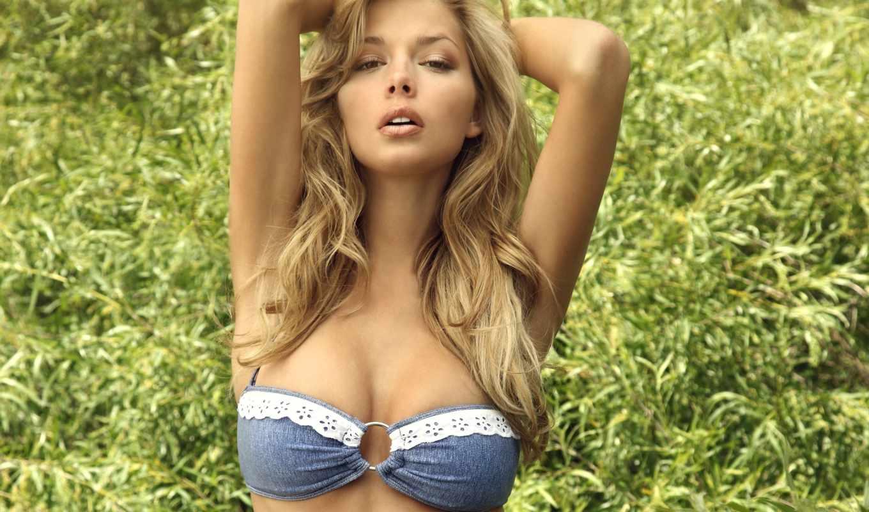 грудь, груди, danielle, купальник, волосы, модель, картинка, devushki, смотреть,