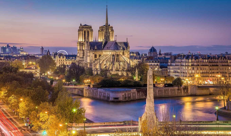 париж, dame, notre, франция, cathedral
