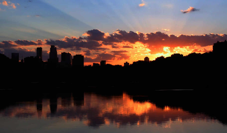 sunset, minneapolis, тучи, контур, pictures, sunrise, город, photo,