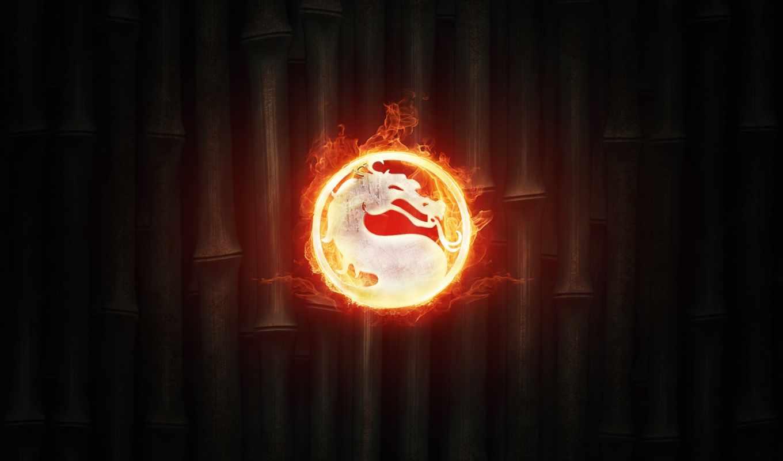 mortal, kombat, комбат, огонь, логотип,