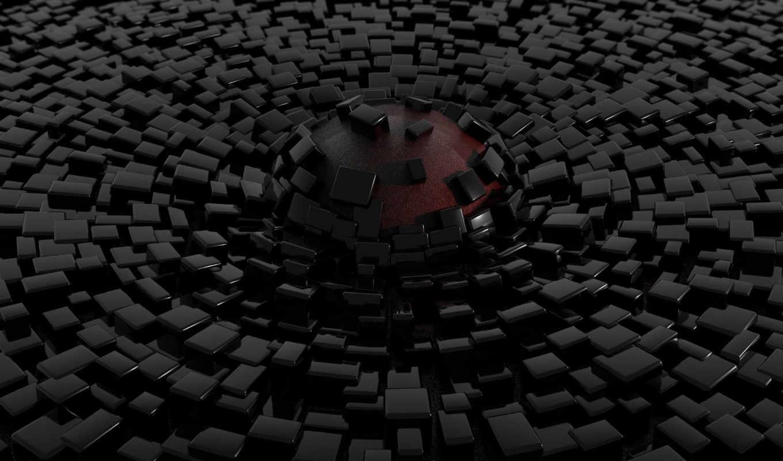 abstract, black, dip, sphere, shapes, bricks, разной, тематики, cubes,