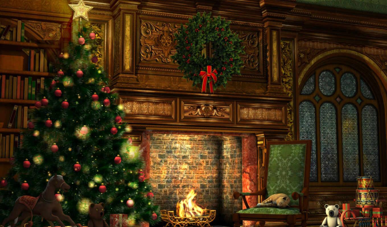 год, новый, рождество, елка, комната, праздник, игрушки, новогодняя, праздники, гирлянды, огни, украшения, подарки, интерьер, обстановка, шарики, елочные, рождественская,