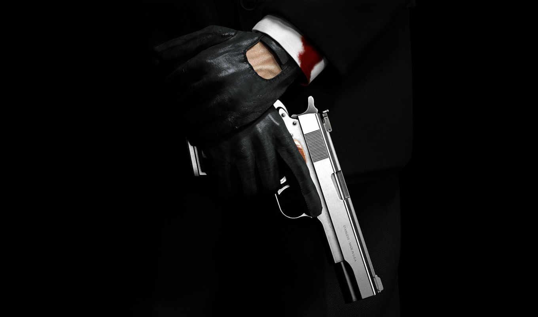 hitman, absolution, убийца, пистолет, наемный, silverballer,