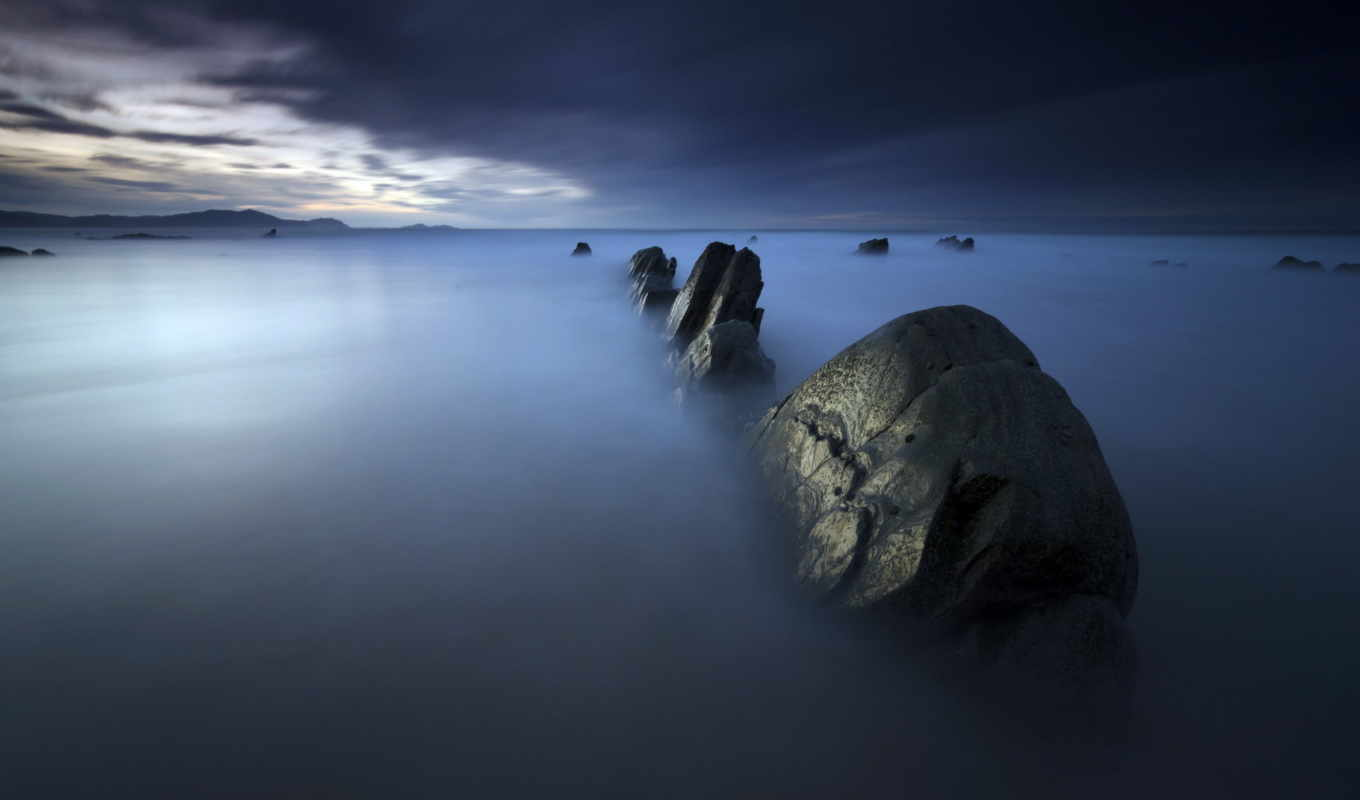 rocks, you, море, misty, widescreen, looking, resolution,