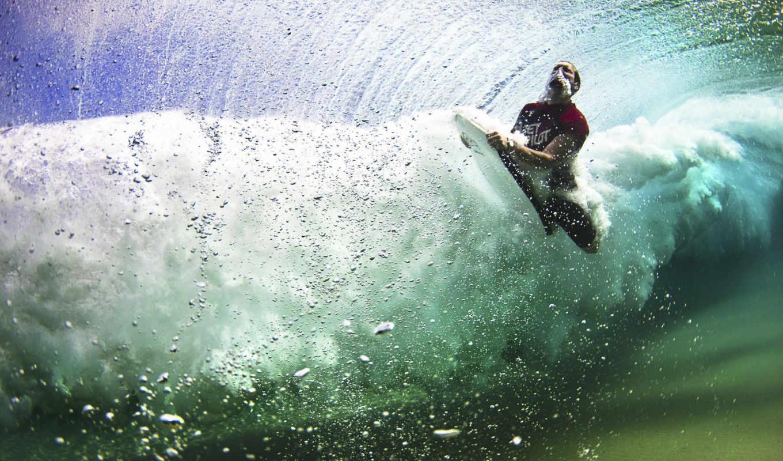 сёрфинг, волна, пузыри, серф, серфер, волне, спорт, sports, поделиться, мега, картинка, moments, под, вернуться,