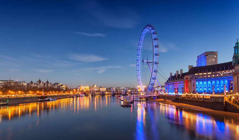 london, глаз, колесо, города, full, город, великобритания,