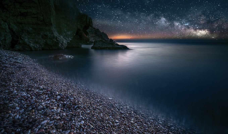 Фото ночного моря
