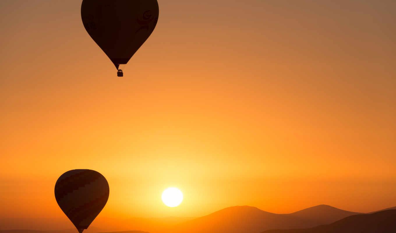 air, hot, восход, desktop, ballons, free, one, twitter,