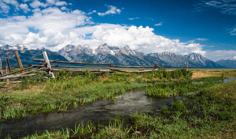 природа, america, north, landscapes, зелёный, луг, national, park, file