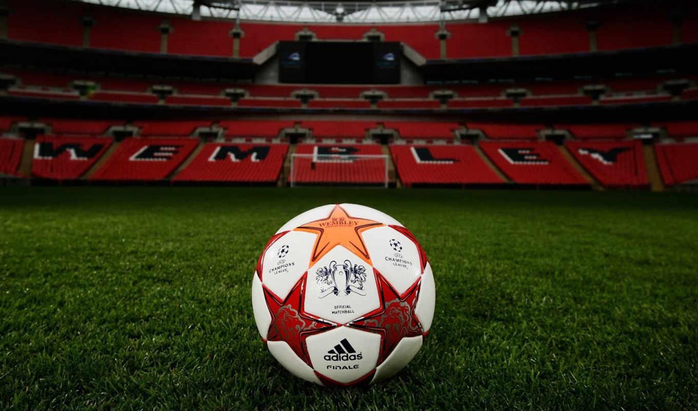 мяч, футбол, чемпионов, стадион, поле, лига, спорт, wembley, уэмбли, ворота, картинку, газон, футбольном,