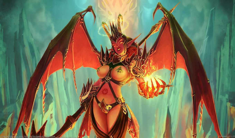 крылья, демон, грудь, когти, рога, волосы, длинные, адаманты, soul, angel, кровь,