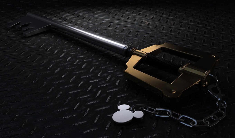 kingdom, черви, keyblade, сердце, desktop,