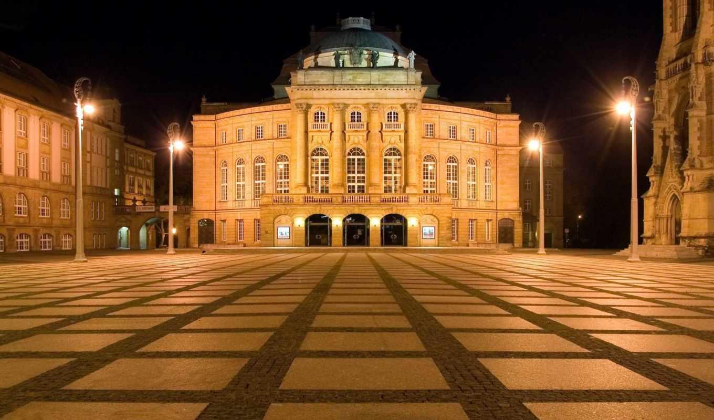 германия, opera, кемниц, chemnitz, замок, картинка, текстура,