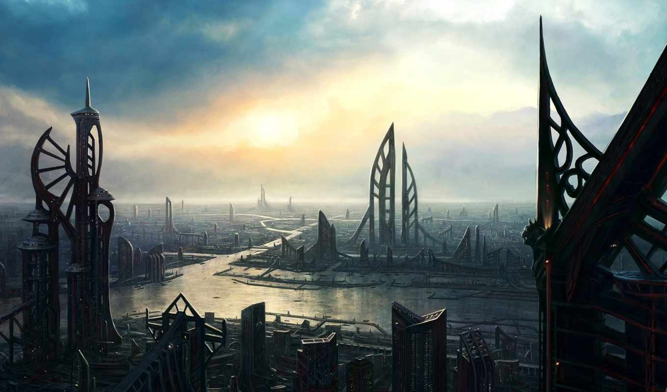 город, обои, city, future, будущего, wallpapers, б