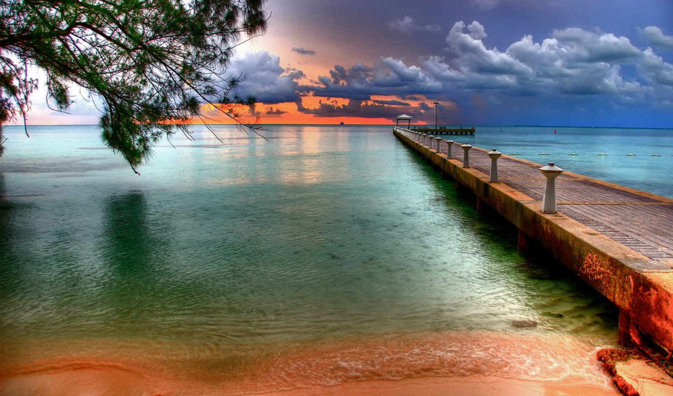 wallpaper, sunset, over, water, pier, facebook, ки, флориде, уэст, во,
