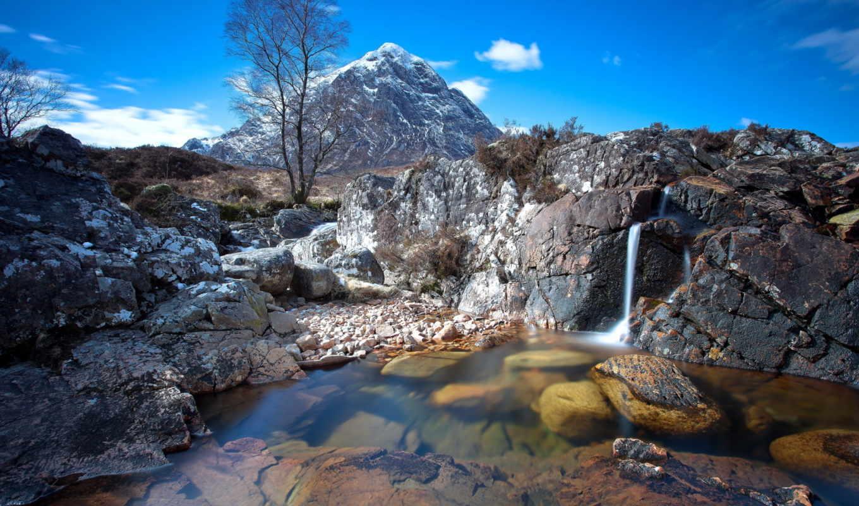 высоком, гора, качестве, шотландия, природа, landscape,