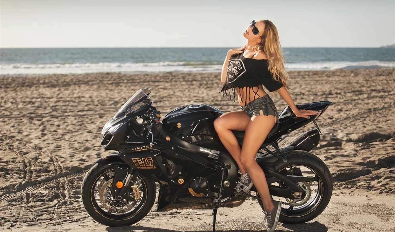 suzuki,, мотоцикл, gsx, креатив, девушка, ,