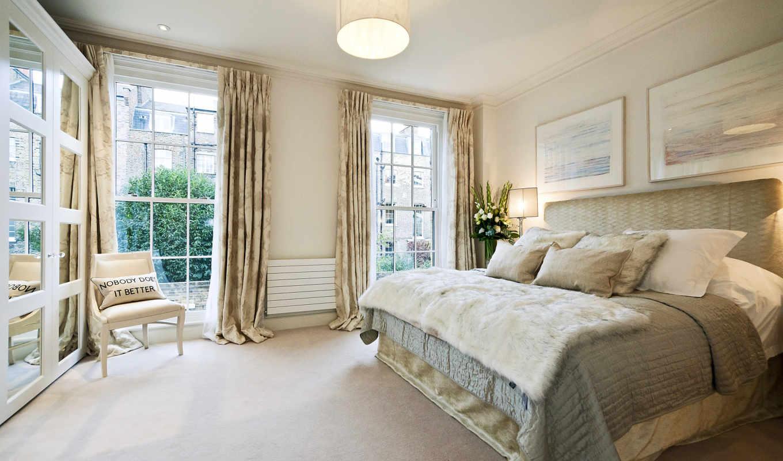 интерьер, спальня, комната, стиль, design, am, кровать,