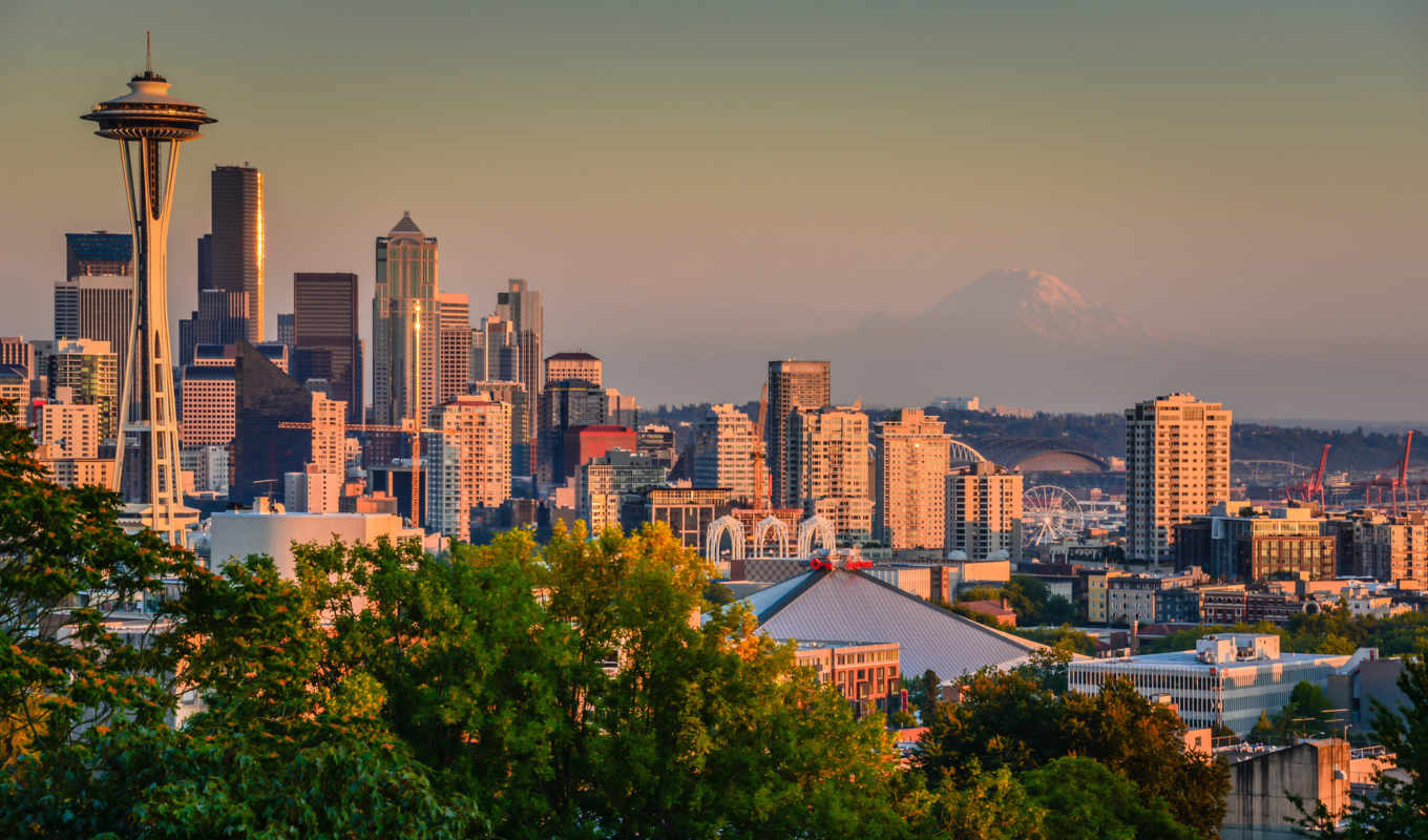 seattle, washington, гора, mount, rainier, рейнир, state, usa,