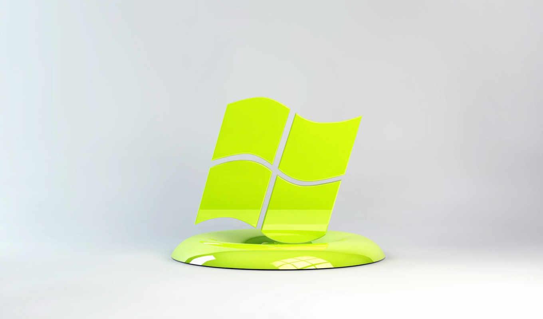 windows, лого, салатовый, подставка