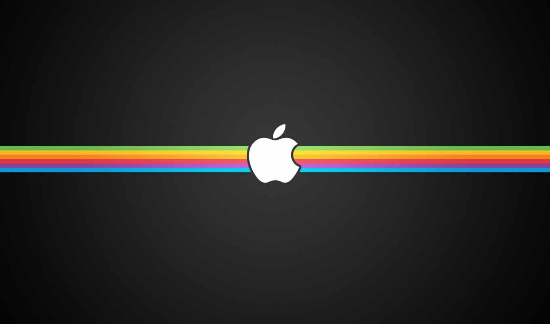 обои, apple, полосы, черный, hd, широкоформатные,
