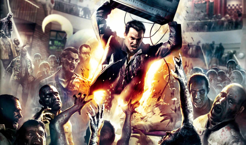 dead, rising, игры, компьютерные, games, картинка, desktop, die, огонь, предыдущая, зомби, адреналин, мужик, телик, злость, feature, следующая, zombies, игра,