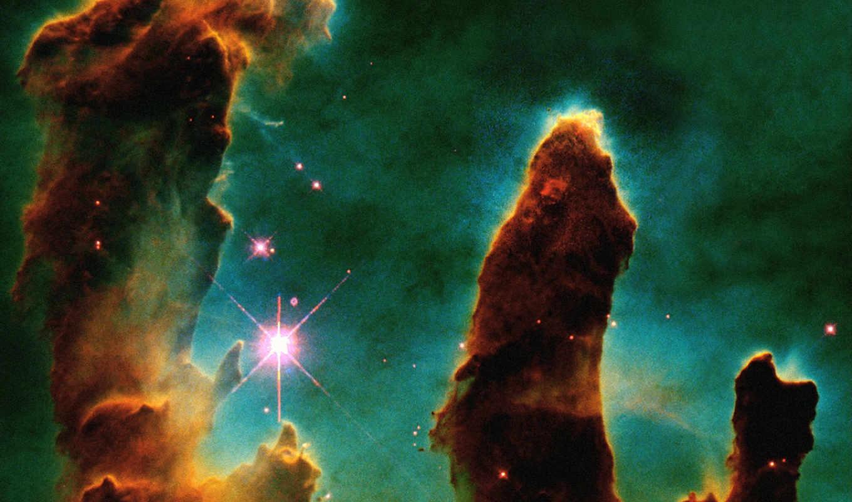 творения, орла, туманность, столпы, туманности, звезды, другие, планеты, созвездия, science, des,