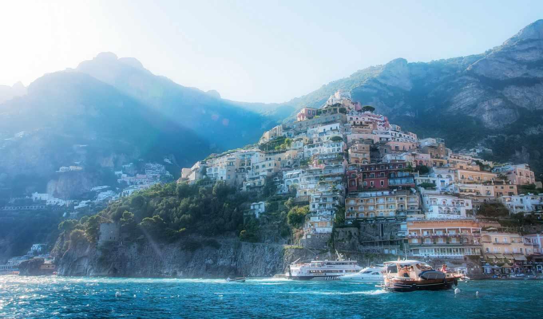 побережье, италия, амальфийское, лигурийское,