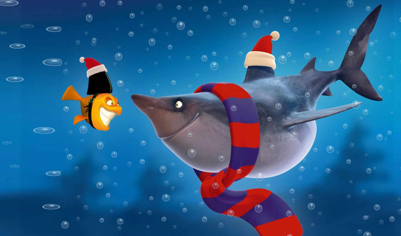 акула, cartoon, fish, рыбки,