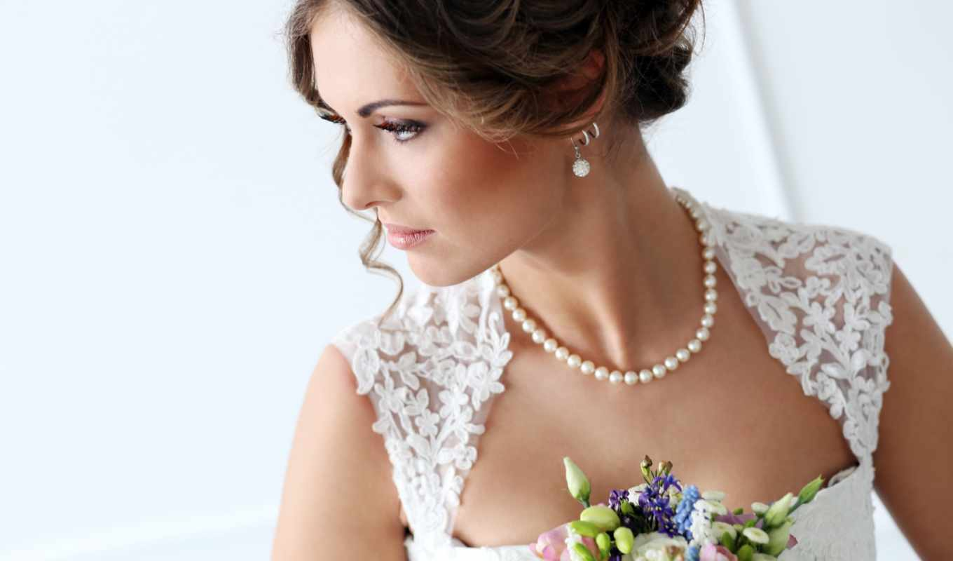 макияж, букет, свадебный, невеста,