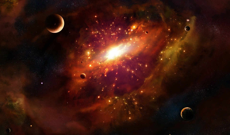 туманность, планеты, космос, свет, картинка, центр, галактика, звезды, вселенная, картинку,