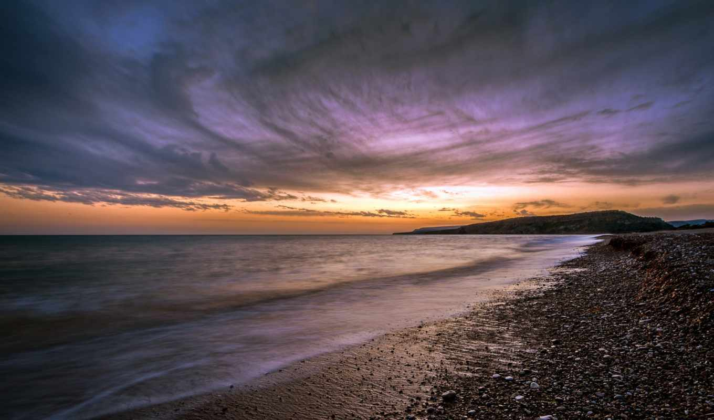 кипр, закат, море, пейзаж, побережье, картинка, картинку,