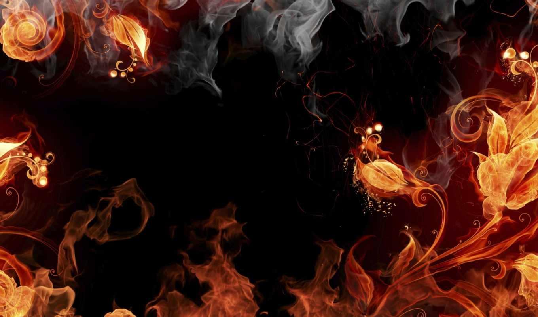 огонь, лошадь, дым, огненная, рисунок, свой, совершенно,