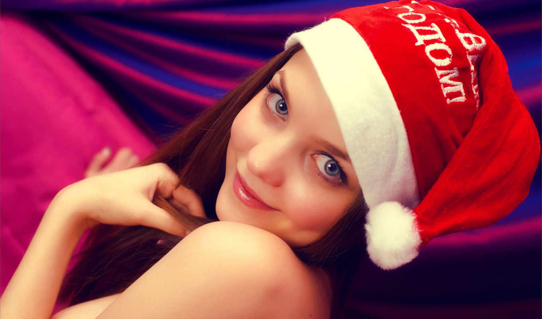 год, new, шапка, девушка, взгляд, девушки, amelie, улыбка,