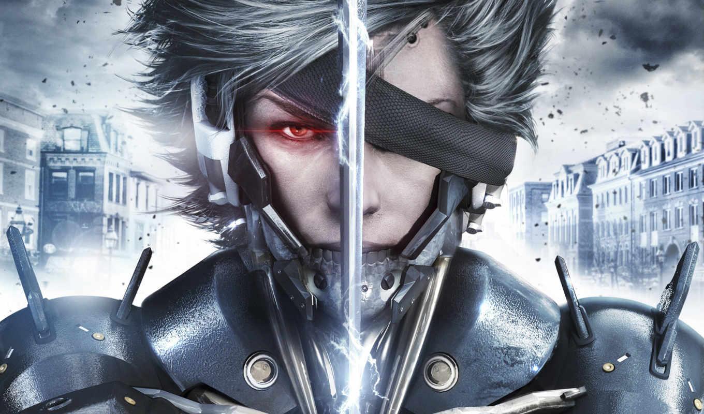 gear, металл, rising, revengeance, raiden, ninja, cyborg, game,