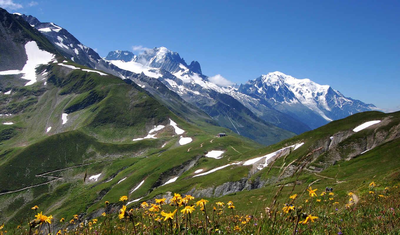 весна, горы, заставки,