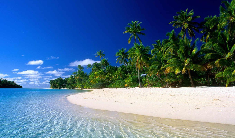 пляжи, пляж, bora, таити,