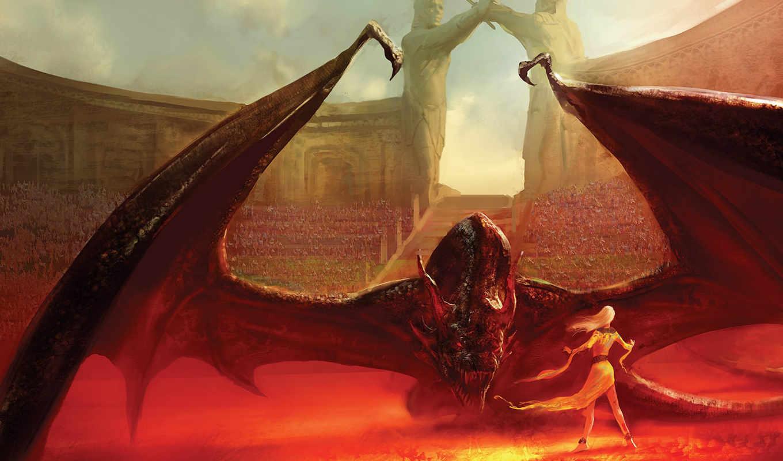 престолов, game, драконов, плио, дейенерис, dance, драконы,