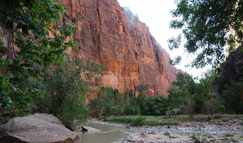 природа, картинка, горы, парки, usa, rock, utah, zion,
