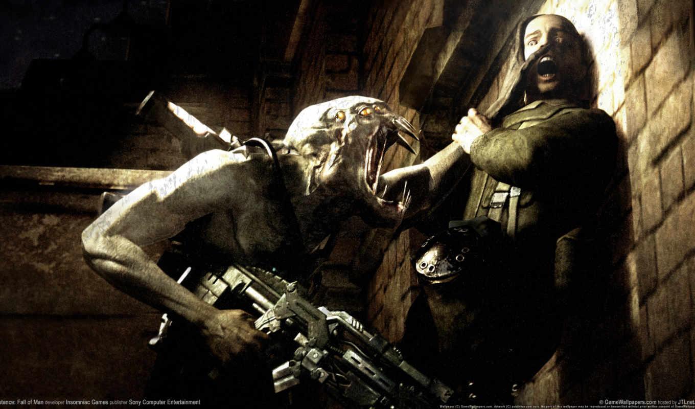resistance, пасть, мужчина, gameplay, game,