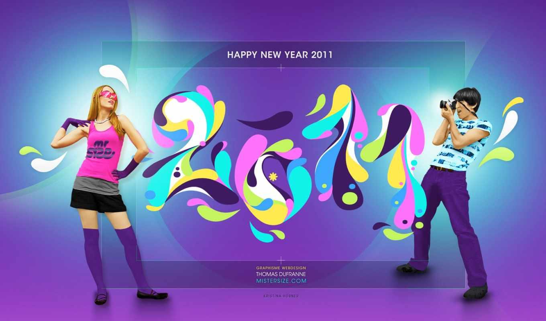 new, год, happy, desktop,