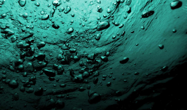под, водой, bubbles, пузыри, море, вода, windows,