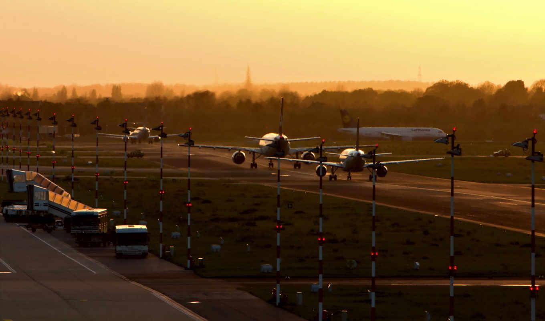 аэропорт, самолеты, пооса, утро, aircraft, картинка, имеет, вертикали, горизонтали, широкоформатные, widescreen,