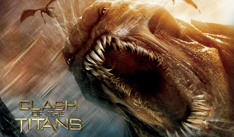 clash, titans, монстр, глубин, кракен, битва, movie, заставки,