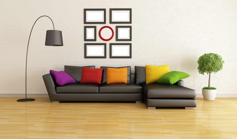 интерьер, диван, картинка, design, stylish, дерево, мебель,