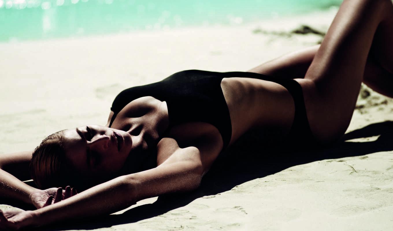 пляж, модель, desktop, девушка, free,