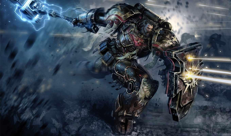 игры, warhammer, спуск, игр, attack, cosmic, выстрелы, воин,