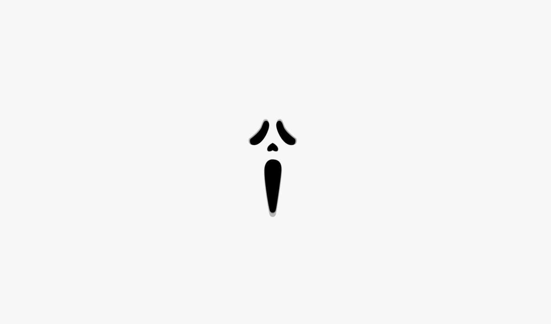 крик, минимализм, ужас, лицо, scream, wallpaper, фильм, hd, белый, facebook, club, tiffanys, halloween, картинку, кнопкой,