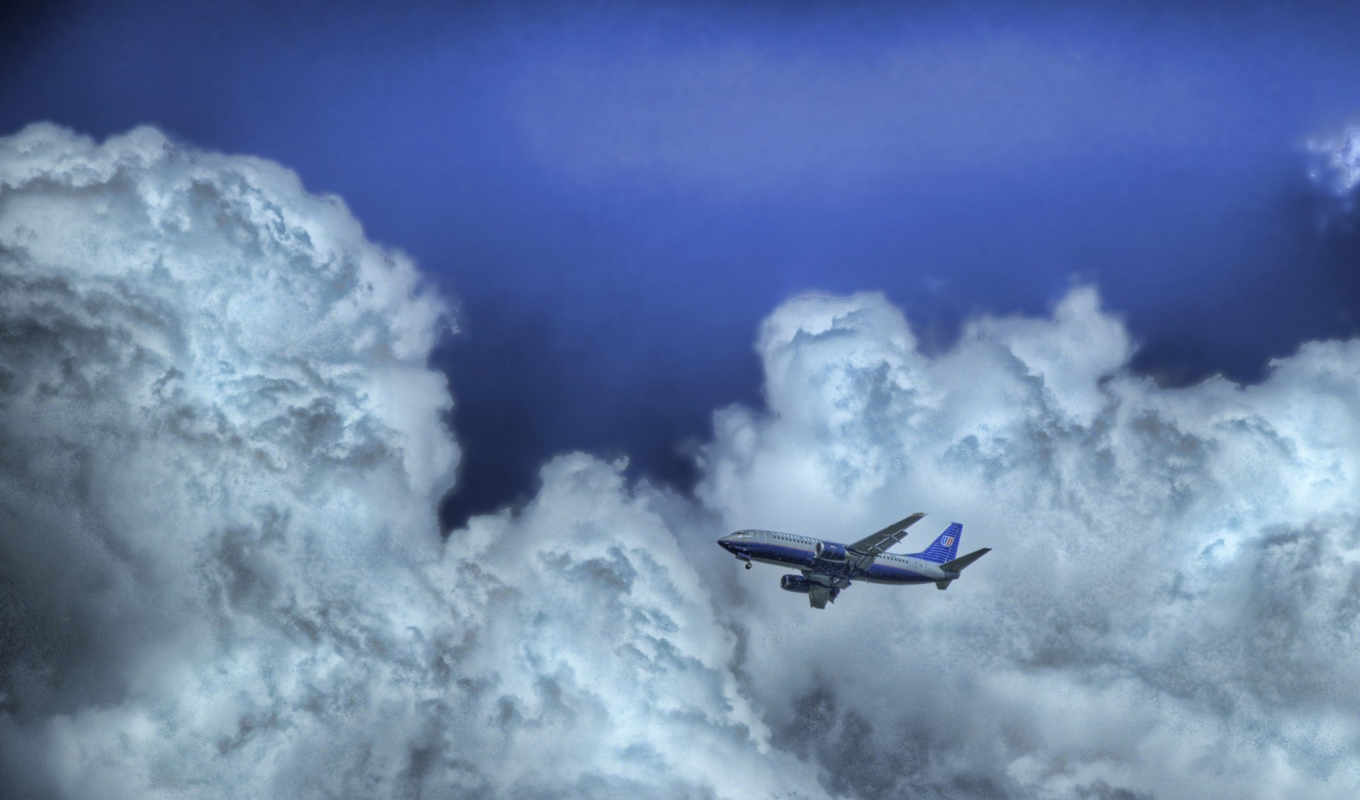 облака, небо, desktop, image, самолёт, flight, clouds, airplanes,